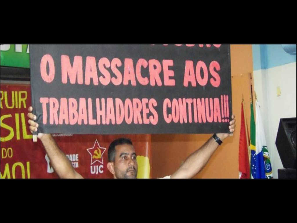 """CLASS UNION"" OF BRAZILIAN IPATING: RESUME TO USIMINAS … THE MURDER OF WORKERS CONTINUES !!!"